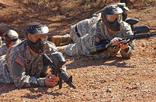 Michigan Army National Guard training on the U.S. Mexico border