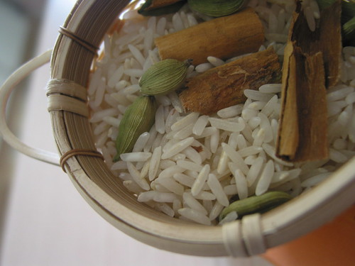 Cinnamon and cardamom basmati rice