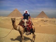 Danny Riding on a Dromedary (perspective-OL) Tags: march egypt dromedary cairo camel danny kamel 2007 cheops pyramides pyramiden dromedar cephren