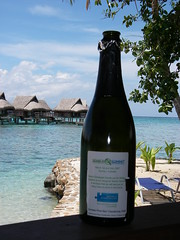 Champagne in Moorea