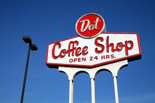 dot coffee shop sign