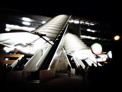 Overlap (_janin) Tags: california usa white black parkinglot disneyland escalator framing anaheim