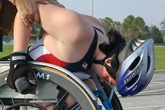 leann racetrack 031307 34 (thatautguy) Tags: school high track wheelchair racing leann workout orangepark d40 ridgeviewhighschool racingwheelchair trackorange parkridgeview