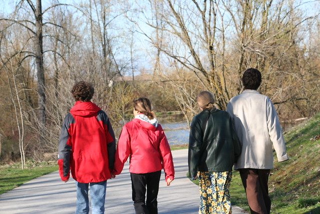Two Couples on a walk