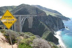 Warning! (cwgoodroe) Tags: ocean california bridge blue sea green beach grass sunshine northerncalifornia stone digital lens relax bay monterey moss spring sand san francisco rocks surf day waves pentax crystal salt lion bluewater bridges sunny sealife cliffs fisheye area carmel seals romantic sealion northern relaxed ist otters saltwater hotday pentaxist stonebridge alge crystalblue