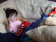 Daniela imitando a Perla