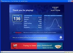 My Test The Nation Score