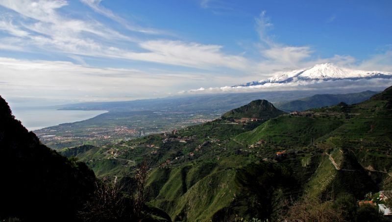 Taormina and Mt Etna