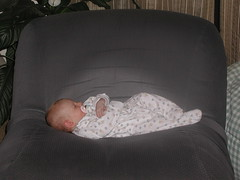 Meg Asleep at Almost 3 Months (1)
