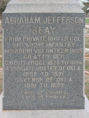 Abraham Jefferson Seay  Tombstone