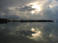 Sunrise 23/03/2007 (╚ DD╔) Tags: blue sea sky people orange sun tree green colors beautiful clouds silver island grey islands colours coconut palm maldives didi raf gan addu hithadhoo atcdd vrmg