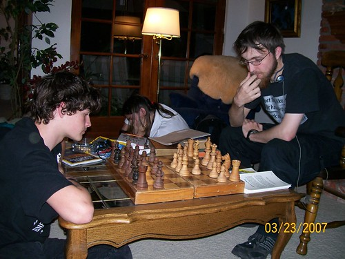 Alec & Frank playing chess