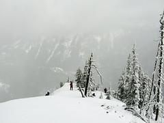 Matt and Bob just below the summit