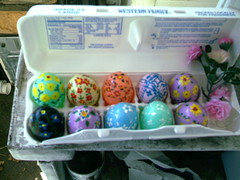 hand painted plastic Easter eggs (Yakima_gulag) Tags: easter things eggs