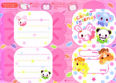 Candy Friends (lightning_lover) Tags: memo kawaii stationery notepaper