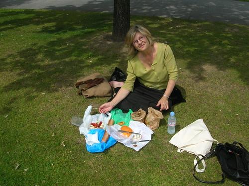 when we had a picnic in Paris