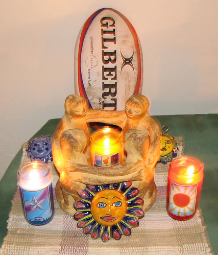 santeria voodoo shrine for rugby domination