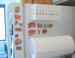 Homemade magnets for freezer inventory