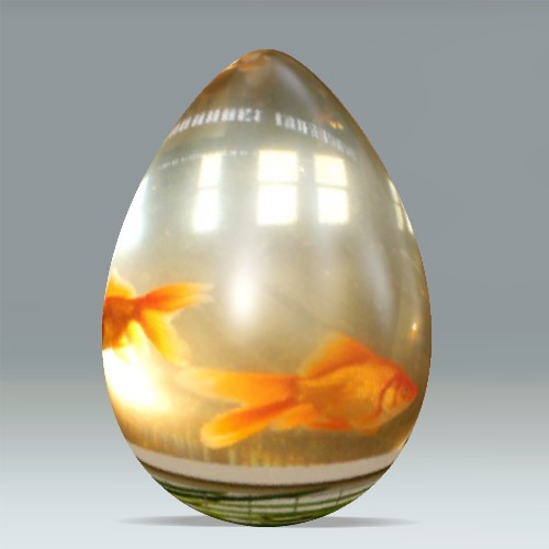 Gold Fish Easter Egg