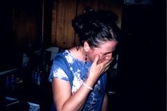 hemleben 2 (EllenJo) Tags: birthday people funnyface english person fiesta birthdayparty celebration british cocktailparty humans embarassed clarkdale englishwoman jeromeartist arizonaartist ellenjoroberts ellenjdroberts ejdroberts ellenjocom