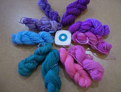 yarn dyed with egg coloring