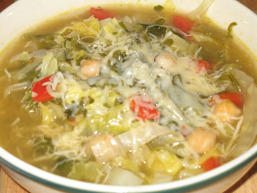 Russian Kale, Fennel, and Garbanzo Soup