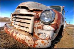White GMC (A guy with A camera) Tags: canada rural truck vintage junk nikon rust flickr antique country rusty sigma alberta scrap 1020 gmc hdr d80 abigfave superaplus aplusphoto diamondclassphotographer theartlair