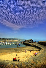041407 Lyme Regis Harbour - Low tide (petervanallen) Tags: blue sea england sky seascape clouds coast nikon harbour dorset cobb lymeregis outstanding habor flickrsoup sigma1020 instantfave d80 outstandingshots mywinners wowiekazowie worldeyes flickrdiamonds stuckcustoms sand
