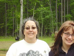 Chimp Haven's assistant director, Elysse Orchard and Katee Fontane