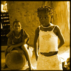 girls in port loko (LindsayStark) Tags: africa travel girl children war sierraleone conflict humanrights humanitarian displaced idpcamp refugeecamp idps idp humanitarianaid emergencyrelief idpcamps waraffected