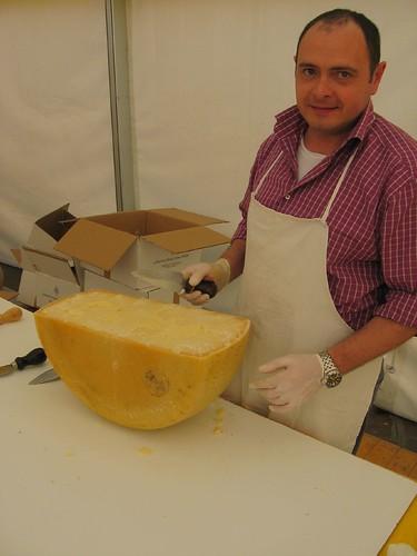 Big chunk of parmisan cheese, Mantova, Italy
