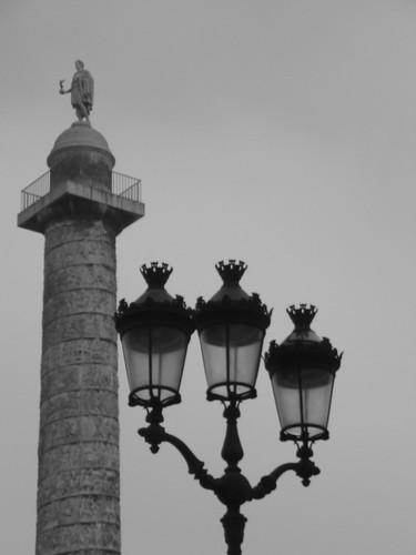A luz que ilumina Vendôme