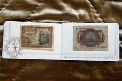 dead money (R.bean) Tags: money moleskine spain journal sketchbook espana moneda peseta oldmoney dessiner cahier carnetdabord artbookklub