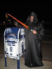 R2-D2 with a true Jedi Master. (04/01/07)