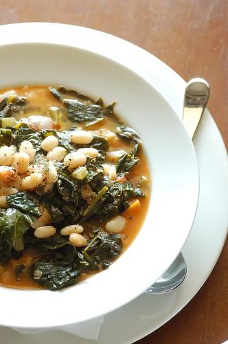 white bean & black cabbage soup