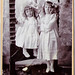 vintage portrait: little girls in white, from england by freeparking