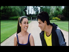 Shahrukh and Rani (Indari) Tags: park sexy green smile sport laughing actors indian teeth handsome bollywood khan talking jogging shahrukh hindi yellowshirt srk rani mukherjee khushi kingkhan greatsmile gham faceexpression k3g mukerji mukherji cinem kabhie khabhi queenofbollywood