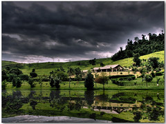 The Masterhouse  (lRoda) Tags: brazil lake verde green paran brasil clouds photoshop canon reflections lago farm nuvens imagemanipulation reflexos hdr highdynamicrange fazenda s2 gramado photomatix tonemapping aleroda holidaysvacanzeurlaub superbmasterpiece guaraniau