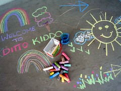 Ditto Kiddo in chalk