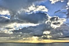 Rigs under Clouds (..brake..) Tags: ocean clouds hdr artizen