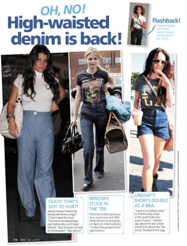 High-Waisted Denim is Back
