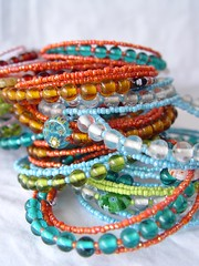 Bracelets (a little bit of just because) Tags: beads bracelets