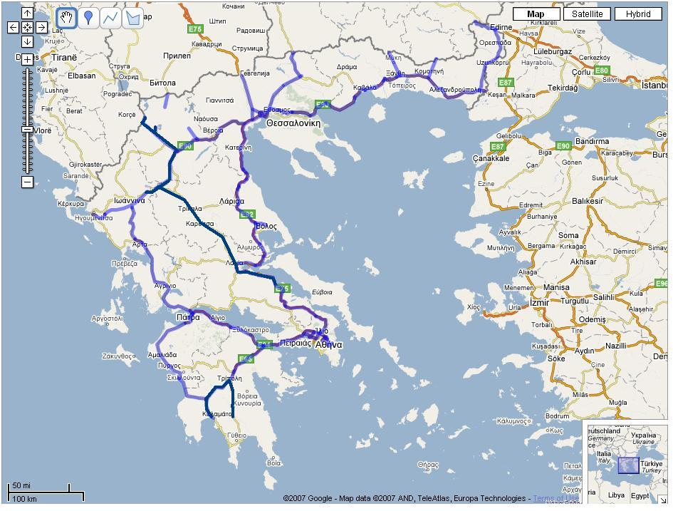 GR Greece road infrastructure Page