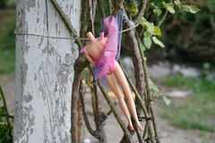 Hanging doll (mondopiccolo) Tags: tree toy switzerland doll hanging albero gioco bambola appesa senzatesta grandlancy