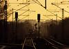 DE 61 HGK (266 061) - Hamburg Hohe Schaar - 2011/04 (zugknipser) Tags: deutschland hamburg hohe schaar baureihe class 66 266 eisenbahn güterzug ganzzug signale lichtsignal schienenstrang güterbahnhof sonnenaufgang