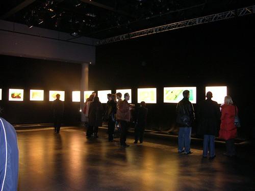 Glowing artwork in Gallery Space