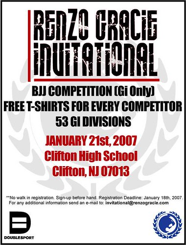 Renzo Gracie Invitational flyer