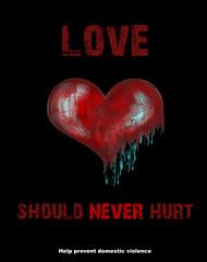 stop domestic violence (Angelique Cook Photography) Tags: love hurt heart advertisement domesticviolence