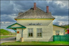 Meeting Creek Station (A guy with A camera) Tags: canada station rural fz20 flickr country railway trainstation alberta hdr highdynamicrange meetingcreek