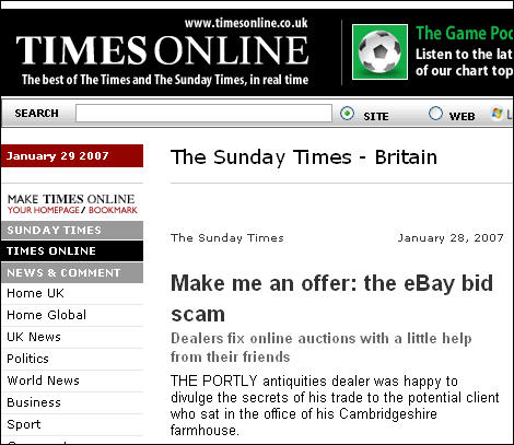 The Sunday Times On Ebay Shill Bidding Dan Wilson
